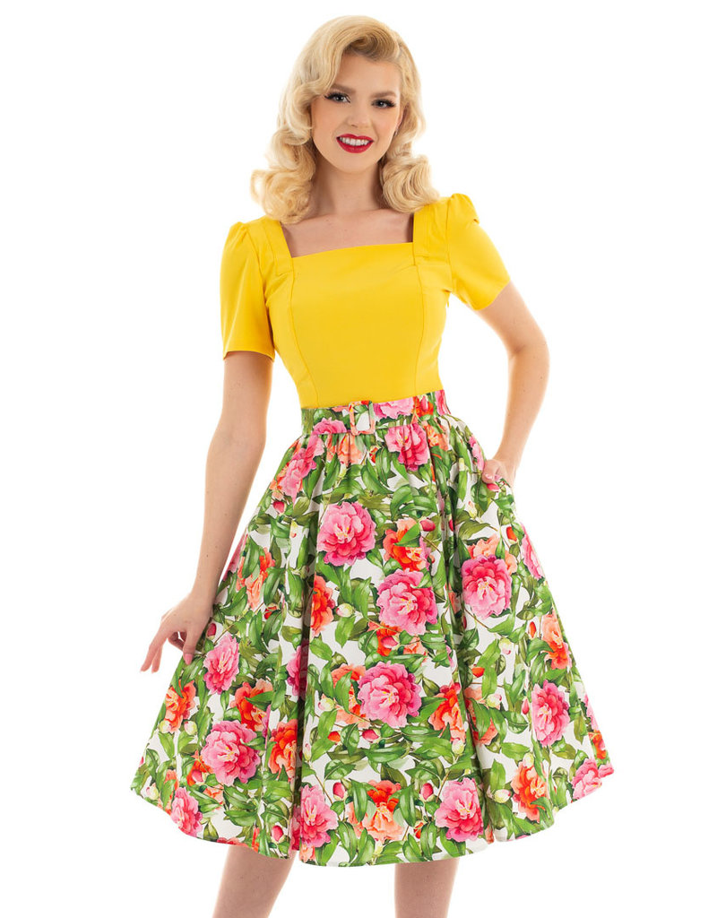 Hearts and Roses Hearts & Roses 1950s Francine Swing Skirt