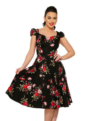 Hearts and Roses Hearts & Roses 1950s Royal Ballet Dress Black
