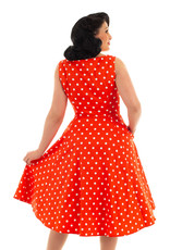 Hearts and Roses Hearts & Roses 1950s Sandy Red Polkadot Dress
