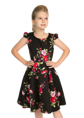 Hearts and Roses Hearts & Roses Kids 50s Royal Ballet Dress Black