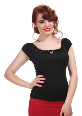 Collectif Collectif 1950s Lorena Top Black