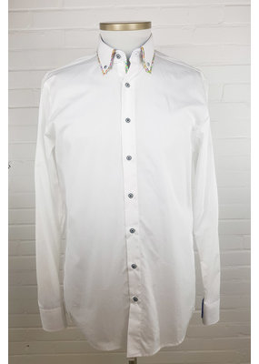 Haupt Haupt White Double Collar Mens Shirt