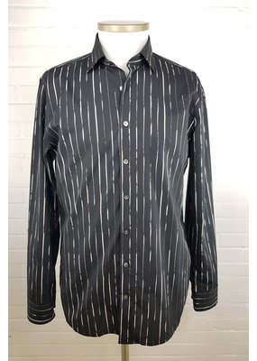Haupt Haupt Regular Fit Black Striped Mens Shirt