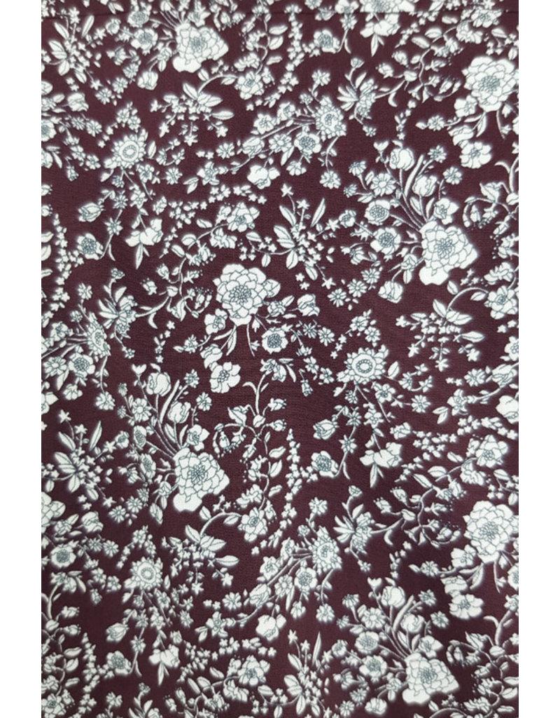 Haupt Haupt Autumn Floral Bordeaux Mens Shirt