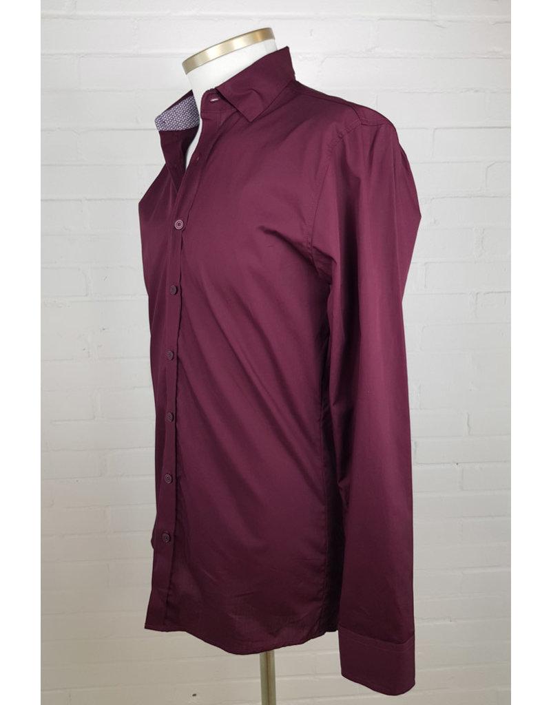 Haupt Haupt Regular Fit Wine Leaves Mens Shirt