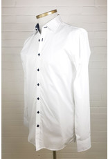 Haupt Haupt Regular Fit White And Black Lining Mens Shirt
