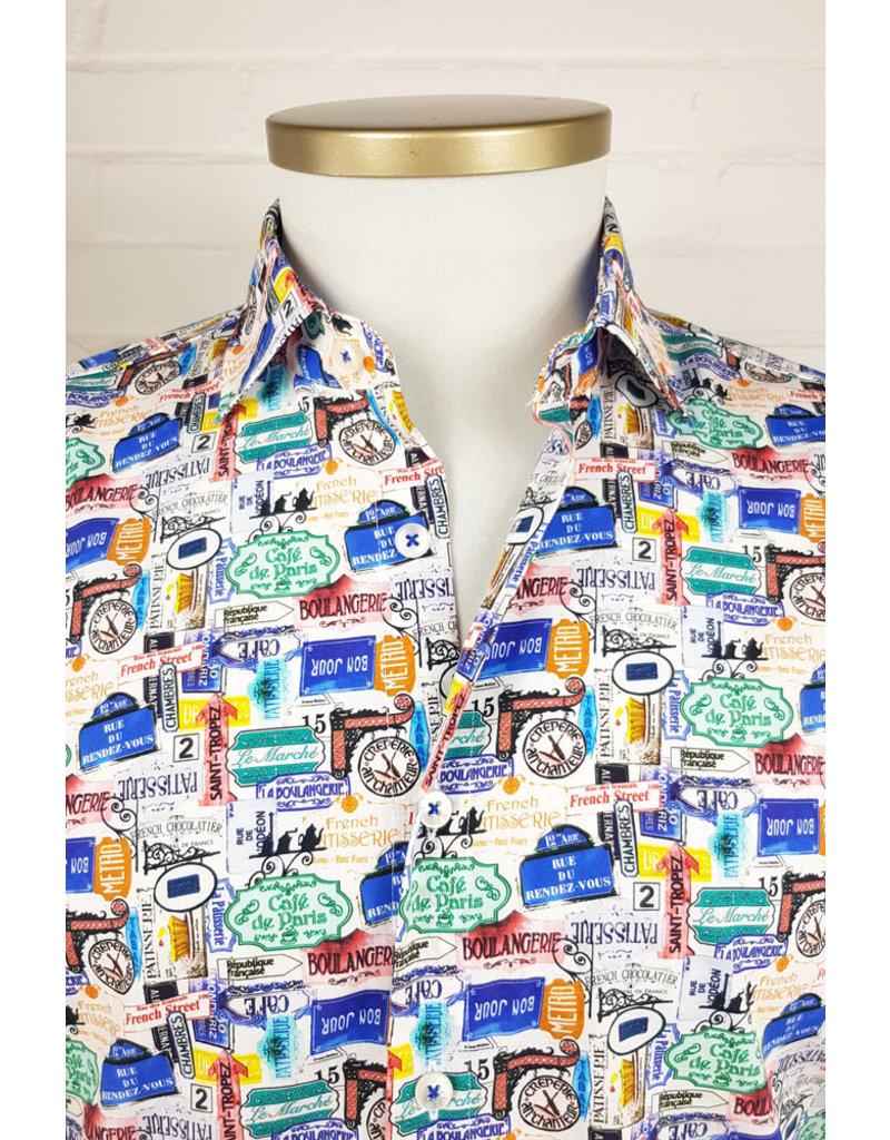 Haupt Haupt Regular Vintage Signs Mens Shirt