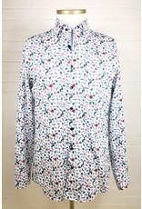 Haupt Haupt Regular Floral Blue Parrot Mens Shirt