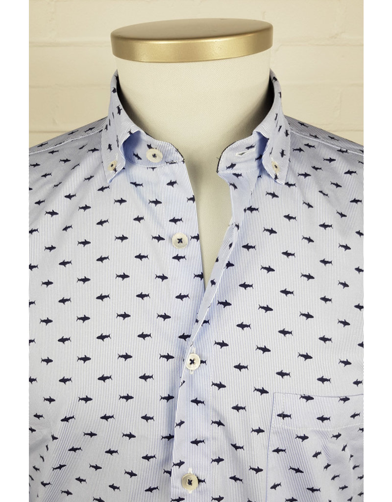 Haupt Haupt Regular Striped Shark Mens Shirt