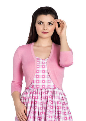 Hell Bunny PRE ORDER Hell Bunny 1950s Maggie Bolero Candy Pink