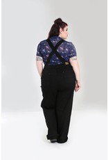 Hell Bunny PRE ORDER Hell Bunny 1940s Elly May Dungarees Black