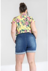 Hell Bunny PRE ORDER Hell Bunny 1950s Nash Shorts Light Denim
