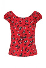 Hell Bunny PRE ORDER Hell Bunny Alison Red Cherry Top