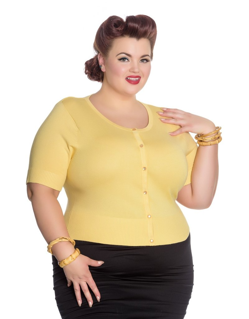 Hell Bunny SPECIAL ORDER Hell Bunny Wendi Cardigan Yellow