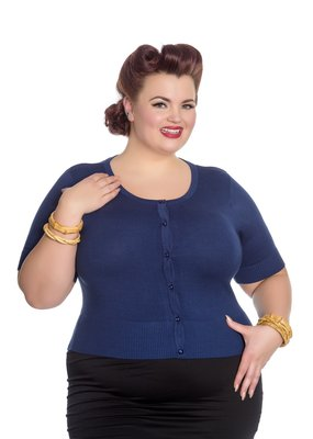 Hell Bunny PRE ORDER Hell Bunny Wendi Cardigan Navy