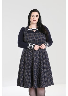 Hell Bunny SPECIAL ORDER Hell Bunny Peebles Pinafore Dress Navy