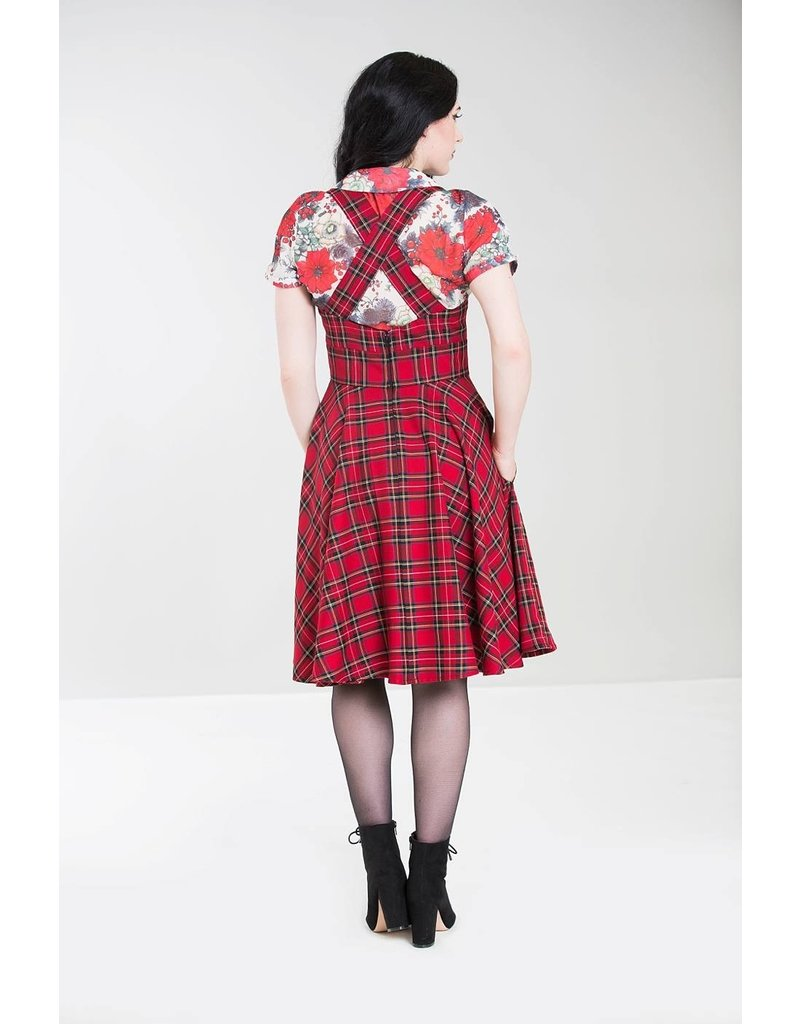 Hell Bunny SPECIAL ORDER Hell Bunny Irvine Pinafore Dress Red