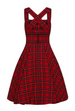 Hell Bunny PRE ORDER Hell Bunny Irvine Pinafore Dress Red
