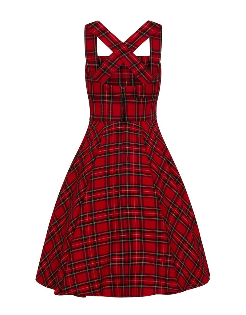 Hell Bunny Hell Bunny Irvine Pinafore Dress Red
