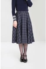 Hell Bunny PRE ORDER Hell Bunny Peebles Navy Tartan Skirt