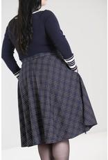 Hell Bunny SPECIAL ORDER Hell Bunny Peebles Navy Tartan Skirt