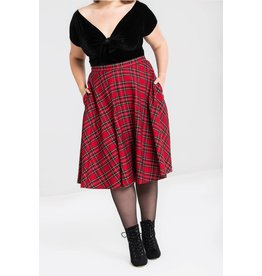 Hell Bunny SPECIAL ORDER Hell Bunny Irvine Red Tartan Skirt
