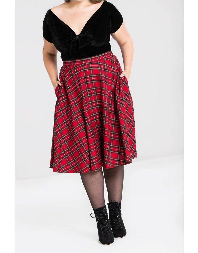 Hell Bunny PRE ORDER Hell Bunny Irvine Red Tartan Skirt