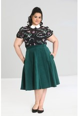 Hell Bunny SPECIAL ORDER Hell Bunny Jefferson Corduroy Skirt Green