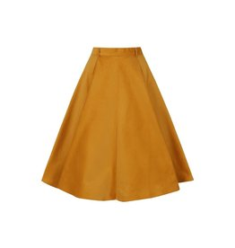 Hell Bunny SPECIAL ORDER Hell Bunny Jefferson Corduroy Skirt Mustard