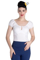 Hell Bunny PRE ORDER Hell Bunny Melissa Gypsy Top White