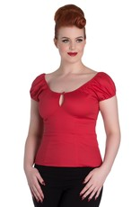 Hell Bunny PRE ORDER Hell Bunny Melissa Gypsy Top Red