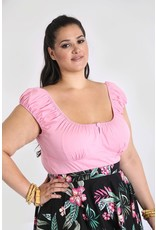 Hell Bunny PRE ORDER Hell Bunny Melissa Gypsy Top Candy Pink