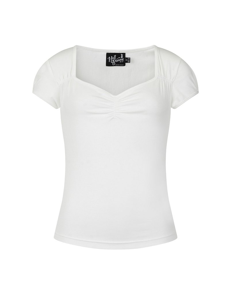 Hell Bunny PRE ORDER Hell Bunny Jersey Mia Top Ivory