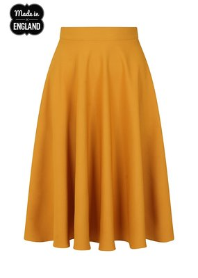 Hell Bunny PRE ORDER Hell Bunny Amelie 50s Skirt Mustard