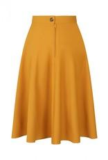 Hell Bunny Hell Bunny Amelie 50s Skirt Mustard