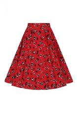 Hell Bunny PRE ORDER Hell Bunny Alison Cherry 50s Skirt