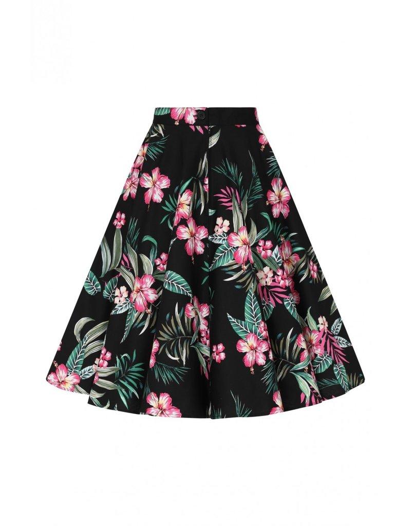 Hell Bunny Hell Bunny Kalani 50s Skirt Black