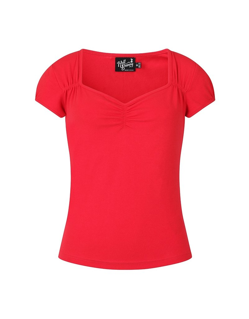 Hell Bunny Hell Bunny Jersey Mia Top Red