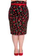 Hell Bunny PRE ORDER Hell Bunny Cherry Pop Pencil Skirt