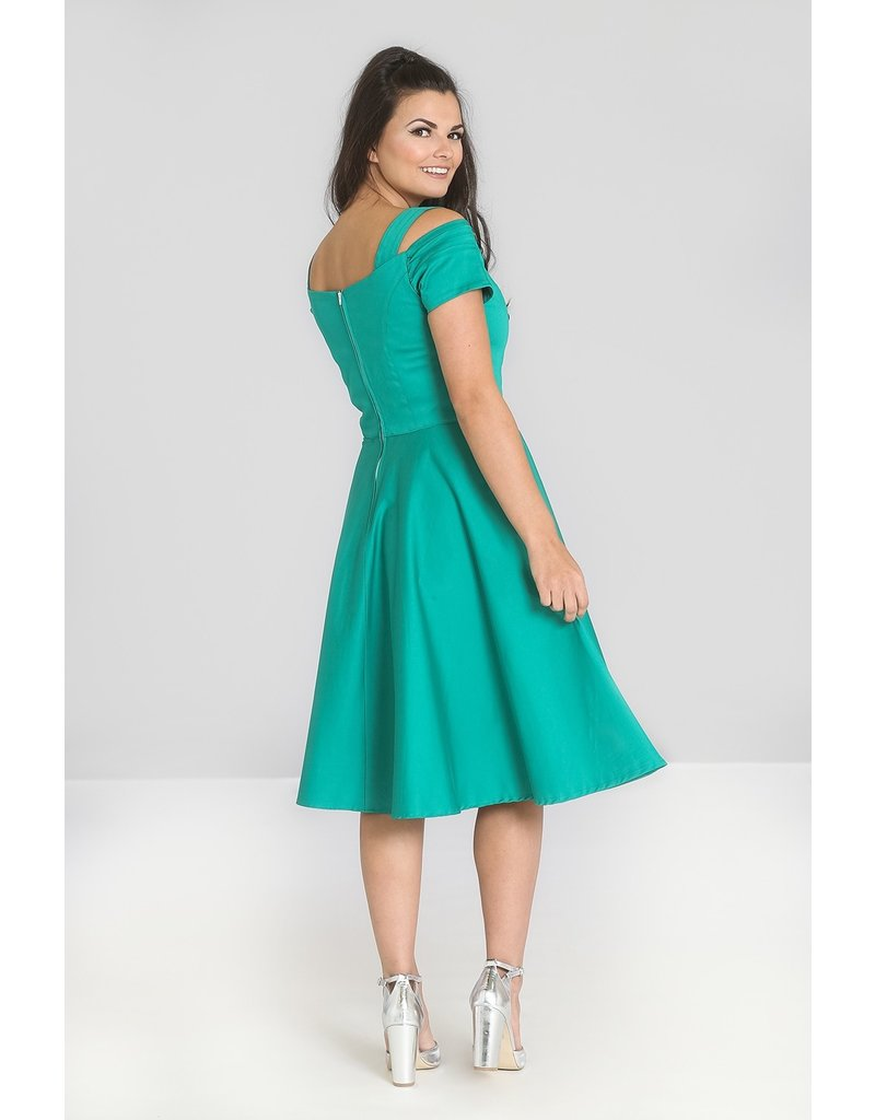 Hell Bunny SPECIAL ORDER Hell Bunny Helen 50s Dress Green