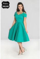 Hell Bunny PRE ORDER Hell Bunny Helen 50s Dress Green