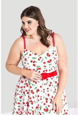 Hell Bunny PRE ORDER Hell Bunny Sweetie Cherry Dress White