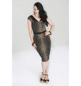 Hell Bunny PRE ORDER Hell Bunny Shuri Leopard Pencil Dress