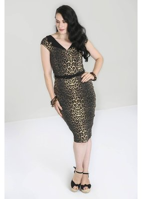 Hell Bunny PRE ORDER Hell Bunny Shuri Leopard Pencil Dress