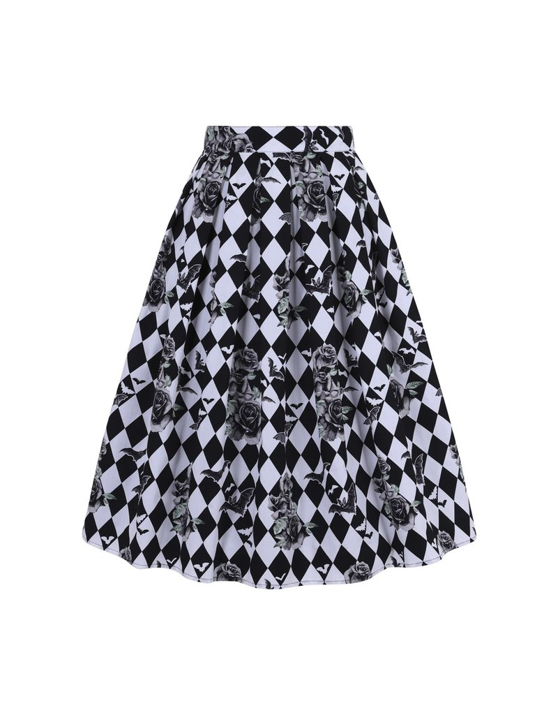 Hell Bunny PRE ORDER Hell Bunny Hauntley 50s Pleated Skirt