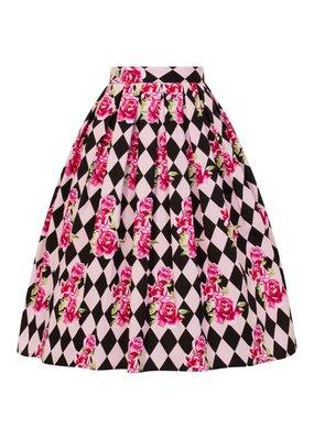 Hell Bunny Hell Bunny Harlequin 50s Pleated Skirt