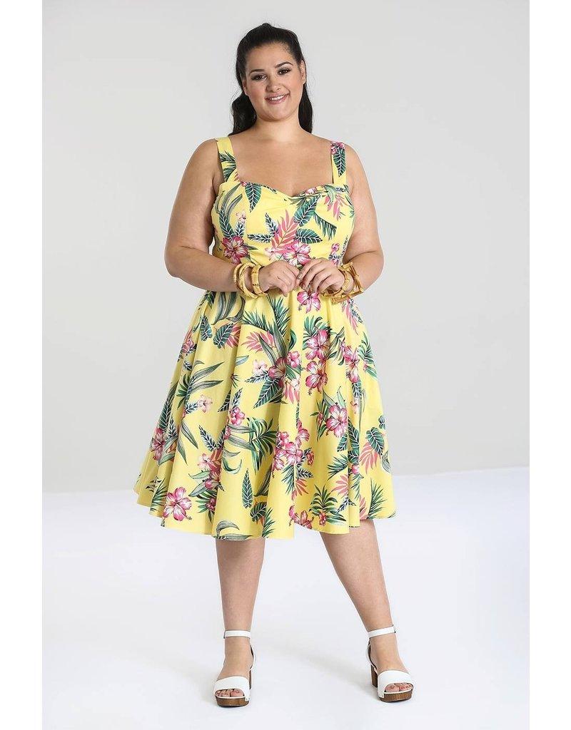 Hell Bunny PRE ORDER Hell Bunny Kalani 50s Dress Yellow