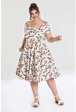 Hell Bunny Hell Bunny Yvette 50s White Cherry Dress