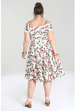 Hell Bunny SPECIAL ORDER Hell Bunny Yvette 50s White Cherry Dress