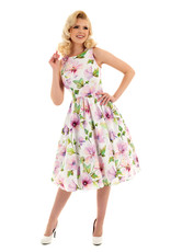 Hearts and Roses Hearts & Roses 1950s Gloria Floral Swing Dress